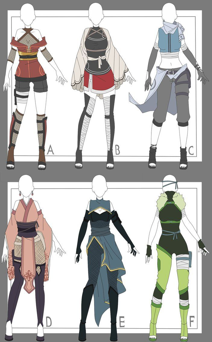 (Naruto) Outfit adoptables CLOSED by x3misteryYuyux3 on DeviantArt