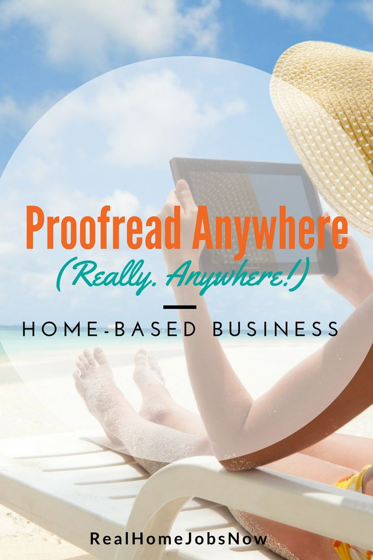 Proofread Anywhere lets you start a business that is home-based, but that you can do absolutely anywhere! Learn how to be a professional transcript proofreader! via @realhomejobsnow