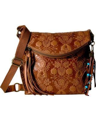 b9dd17f3bf20 The Sak Silverlake Crossbody (Tobacco Floral Embossed) Cross Body Handbags