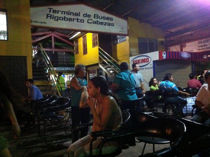 Bus from Managua to El Rama, Nicaragua