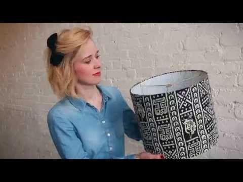 Make a custom drum lampshade in less than an hour! Make it easy with a DIY Lampshade Kit - YouTube