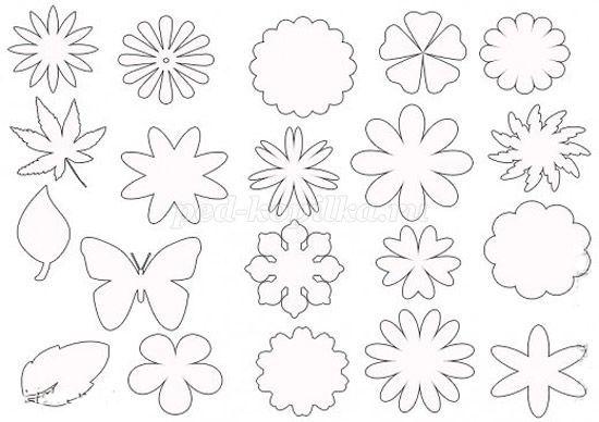 Шаблоны цветы из бумаги своими руками схемы