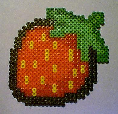 Strawberry perler beads by KVDruidess on deviantart