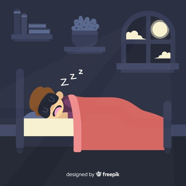 Download Person Sleeping In Bed Background For Free In 2021 Vector Free Cartoon Clip Art Cute Illustration