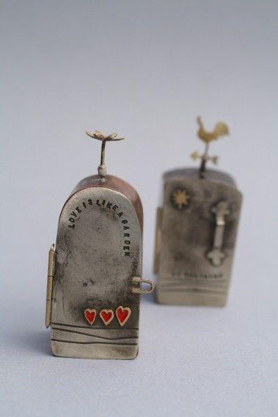 bronwen tyler-jones - metal box amulets (via daily art muse).