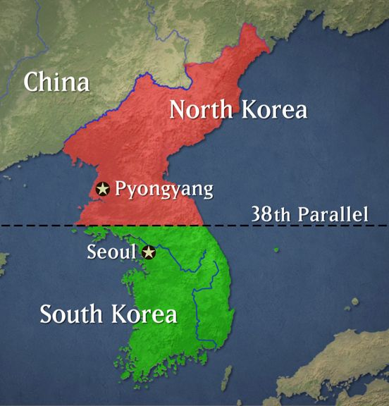 After World War Ii North And South Korea Split The North Was Communist With The Soviet Union And Red China North Korea Attacked The South And The