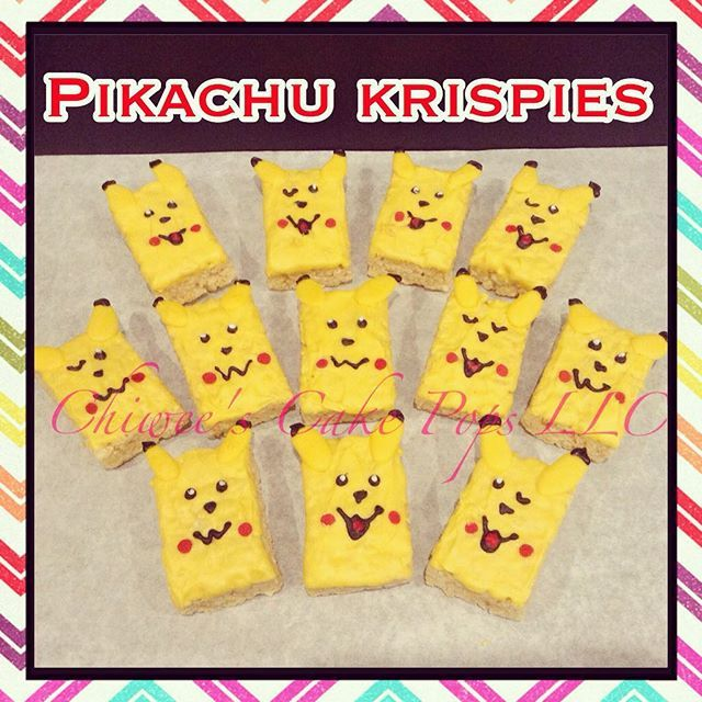 Instagram media chiweescakepops - PIKACHU KRISPIES #ricekrispies #chocolatecoveredricekrispies #picoftheday #love #fun #cute #nice #ricekrispytreats #cool #party #pretty #beautiful #sweet #sweets #adorable #awesome #pokemon #photooftheday #instagood #treats #iger #igdaily #foodie #foodpic #foodiegram #tgif #chiweescakepops #delicious #food #pikachu