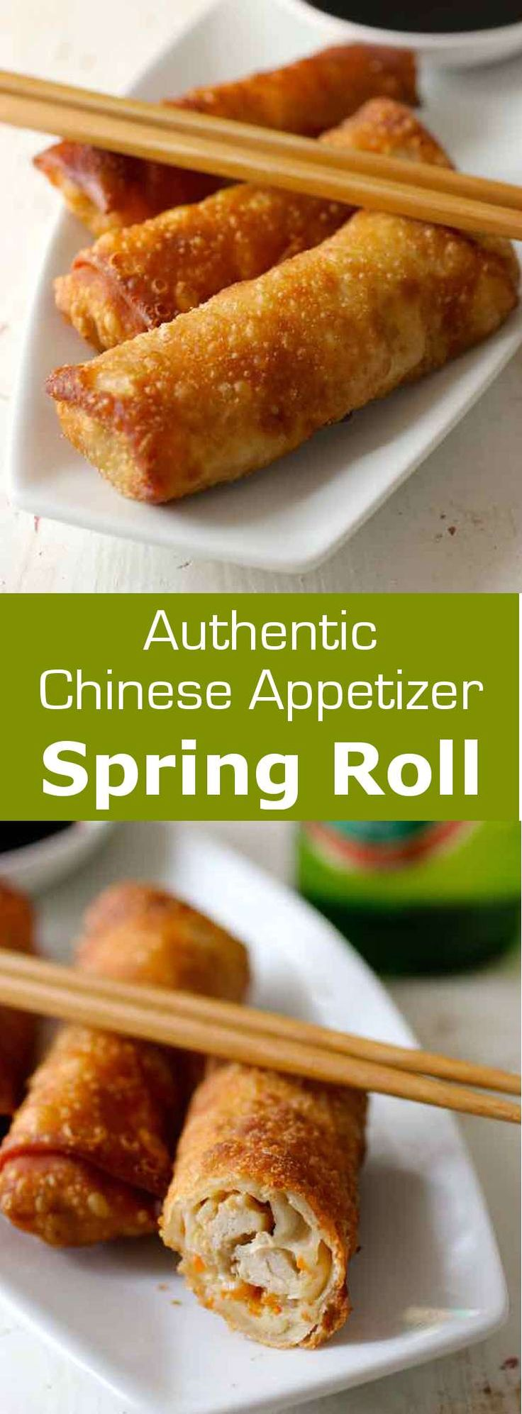 Spring rolls are traditional Southeast Asian appetizers that can be served non-fried or fried. The fried version is also known as egg rolls in the US. #China #Chinese #ChineseCuisine #ChineseRecipe #ChineseFood #AsianCuisine #AsianRecipe #ChineseAppetizer #Appetizer #WorldCuisine #196flavors