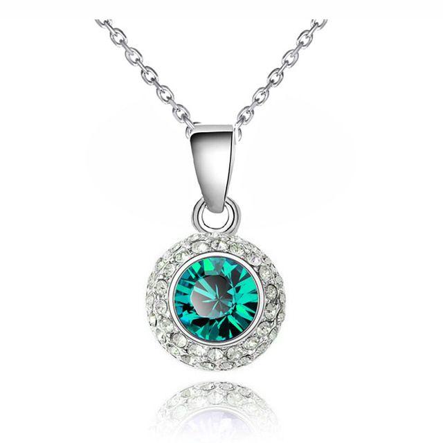 Марка кейт королева луна подвеска ожерелье цепь 18 К Позолоченный Лунный Свет австрийский хрусталь ювелирных изделий способа ожерелья colar 84335