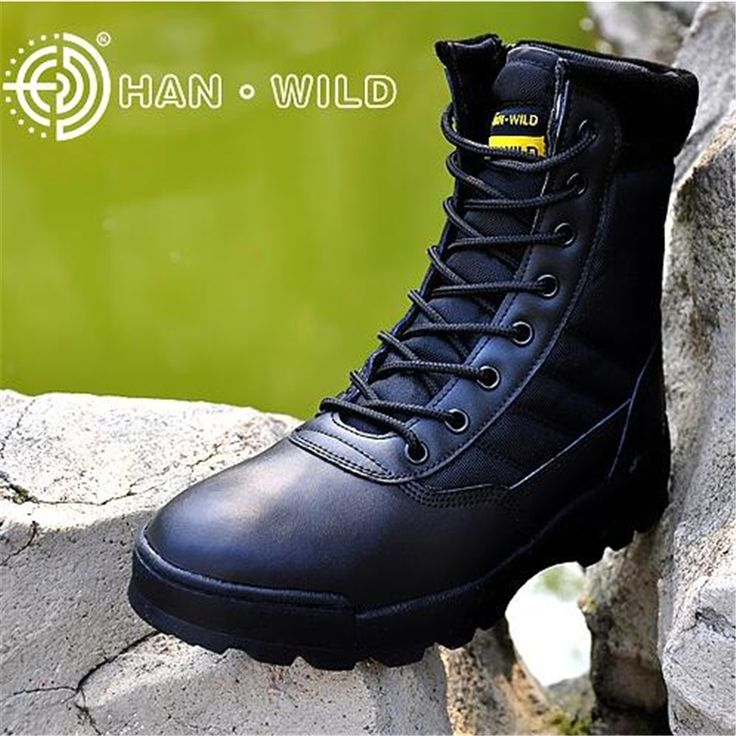 Military Tactical Combat Waterproof Boots Army Men Ankle Desert Boots SWAT All Season Outdoor Mens Boots Botas Militares