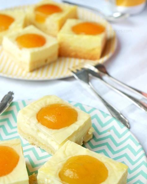 "Rezept Spiegeleier Kuchen | Aprikosen Quarkkuchen | cake recipe | ""fried egg cake"" | apricots | waseigenes.com"