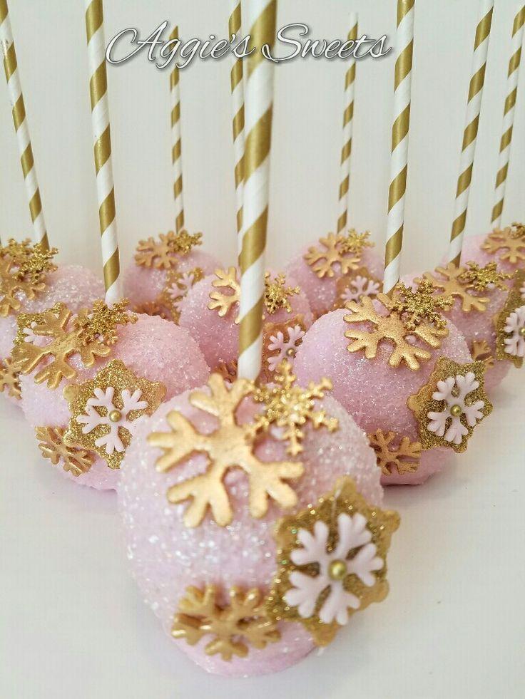 Pink und Gold Winter Wonderland Äpfel   – Aggie's Sweets