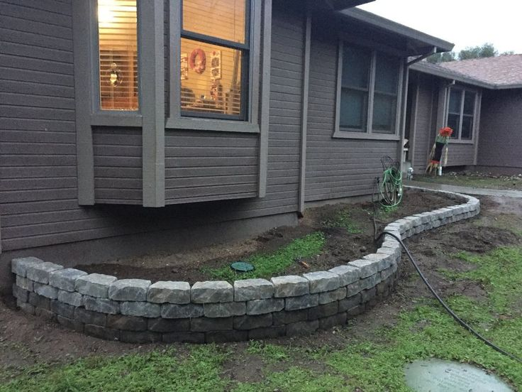 how to build a small retaining wall with bricks