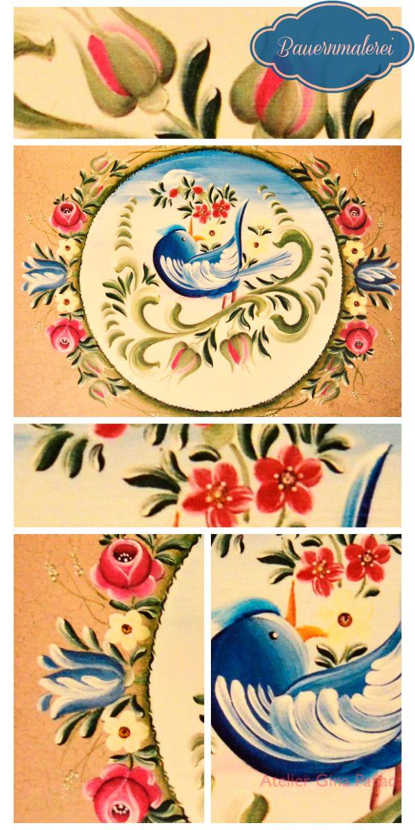 Atelier Gina Pafiadache: Pássaro em Bauernmalerei