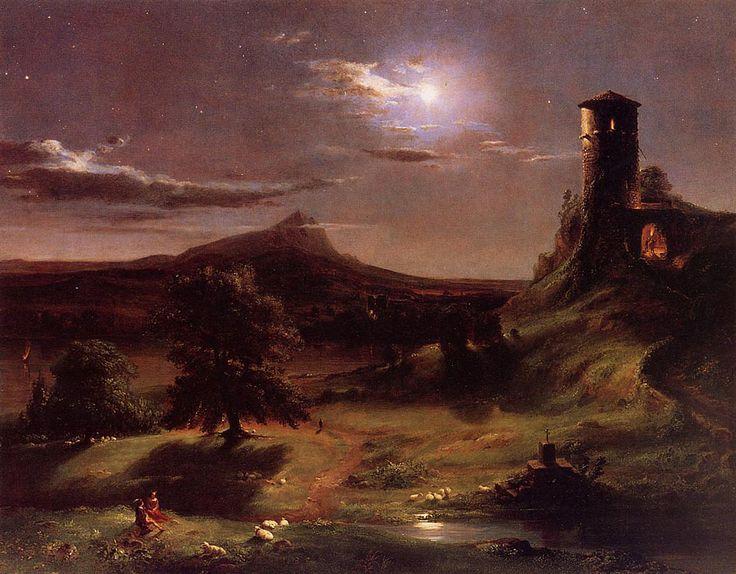 Moonlight    Artist: Thomas Cole