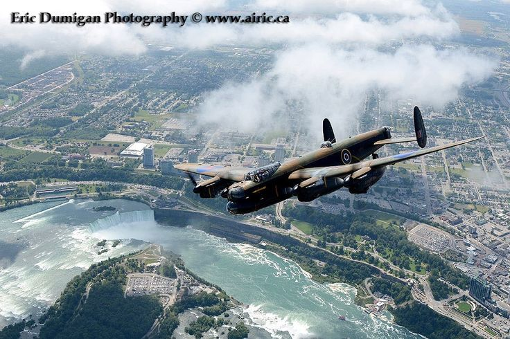 Happy Canada Day - Gorgeous pic of VERA (Lancaster) over Niagara Falls.