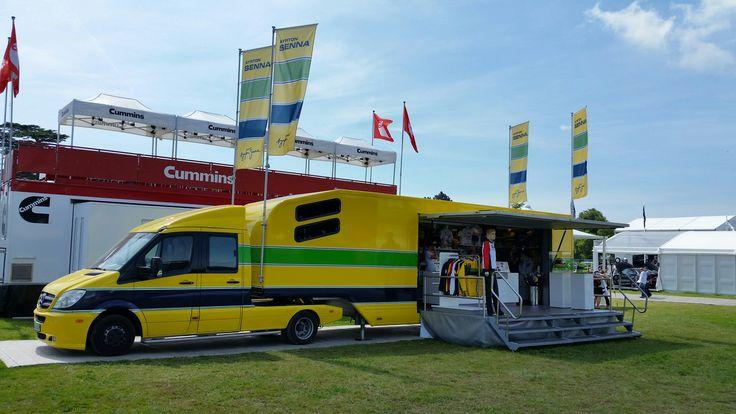 The Ayrton Senna Shop Truck at Goodwood.  #FOS #SennaSempre