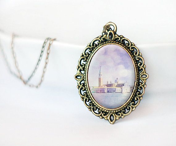 Venice photo pendant Italy photography wearable art by TiAmoFoto handmade jewelry, christmas gift idea
