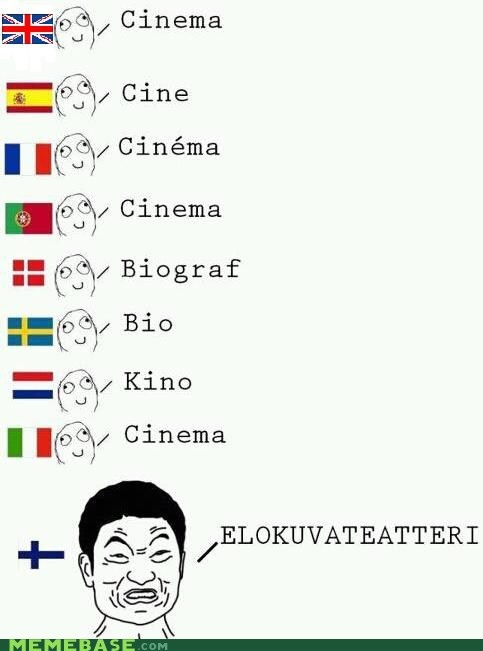 Finnish again.  You say 'leffa' in everyday speech...