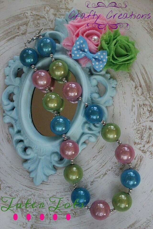 Crafty Creations original GumBall necklace with a Tater Tots hair clip!!