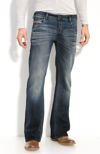 Free shipping and returns on DIESEL® 'Zathan' Bootcut Jeans (885K) at Nordstrom.com. Heavy fading and whiskered details offer a time-worn appearance to traditional bootcut jeans reinforced with antique copper hardware.