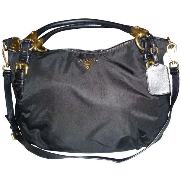4ed6564ad7 ... best price pre owned nylon black shoulder bag from prada 530 liked on  polyvore 69db9 152fc