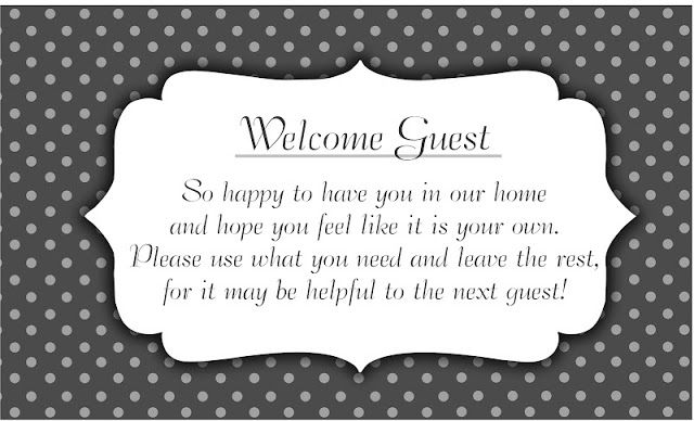 Welcome Guest Basket - Darling Doodles