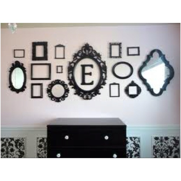 Baby room ideas: Mirror, Silver Trays, Empty Frames, Living Room, Decoration Idea, Picture Frames, Frames Collage, Frames Wall, Pictures Frames