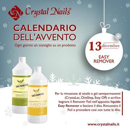 Calendario dell'avvento Crystal Nails - 13 dicembre #easyremover #crystalnails