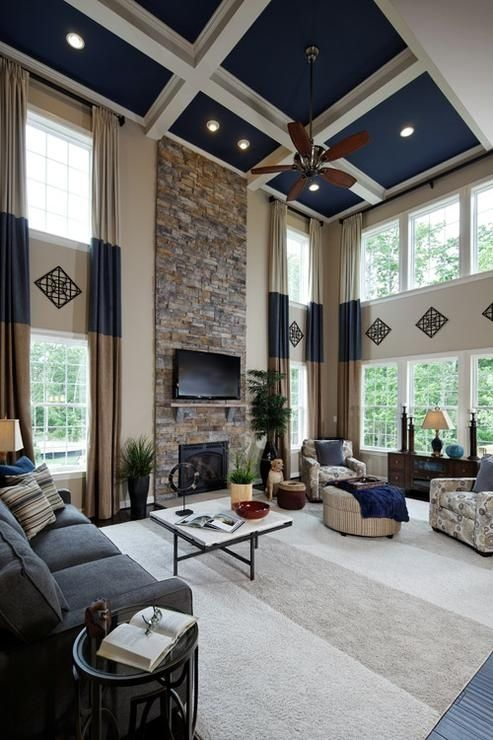 194 best images about 2 story family room on pinterest High ceiling window treatments