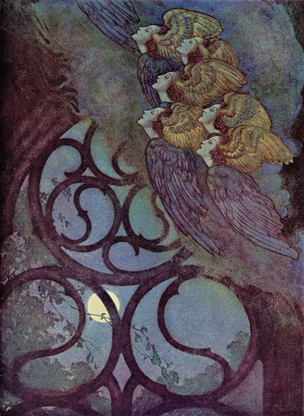 Edgar Allan Poe: The Bells - Edmund Dulac art print