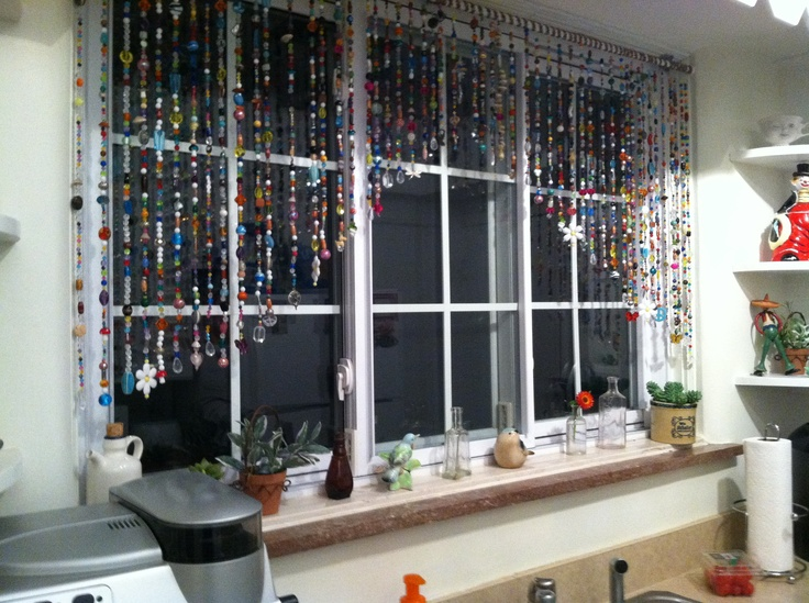Beaded curtains so must fun to make!