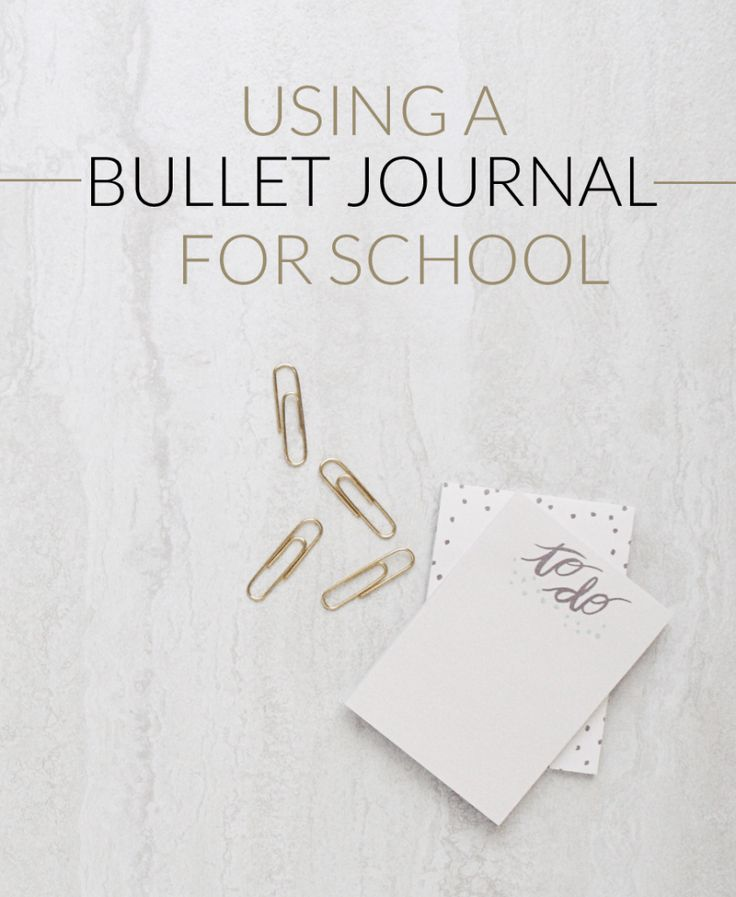 Bullet Journal for School! How to do it to get ahead and succeed!