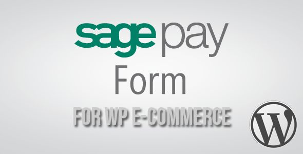 SagePay Form Gateway for WP E-Commerce   http://codecanyon.net/item/sagepay-form-gateway-for-wp-ecommerce/3561202?ref=damiamio       SagePay Form integration is the easiest way to start processing online payments. It can take as little as 20 minutes to set up and is by far the quickest way to integrate Sage Pay.   Form integration is designed to pass transaction details from your website to Sage Pay to carry out authorisation. Outsourcing your payment processing in this way means that no…