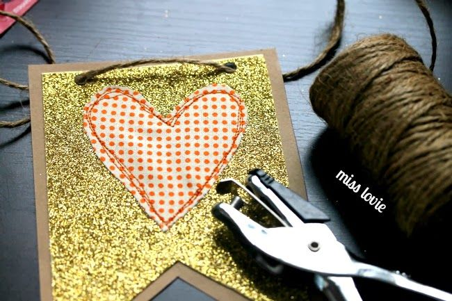 Miss Lovie: DIY Fabric Heart Fall Bunting with Free Template