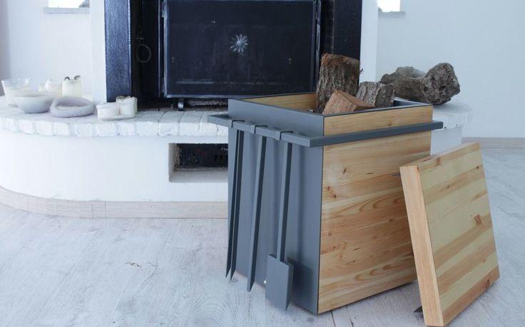 Portalegna Wooden Wood Storage Stool