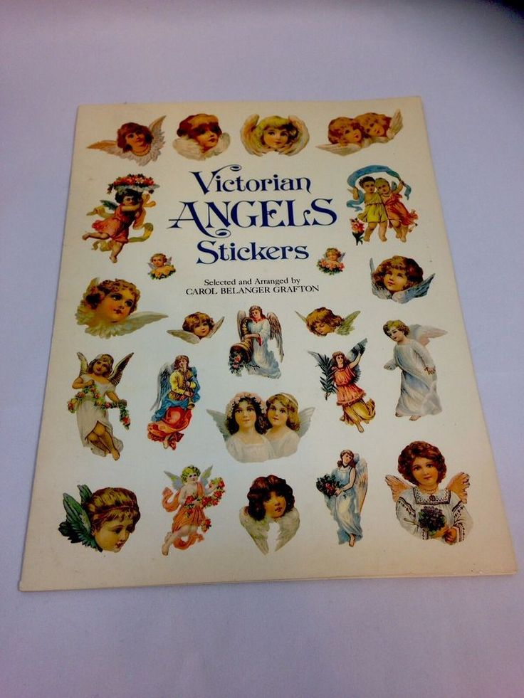 VICTORIAN ANGELS STICKERS BOOK BY CAROL BELANGER GRAFTON NEW BOOK SHIPS FREE!!! #Dover