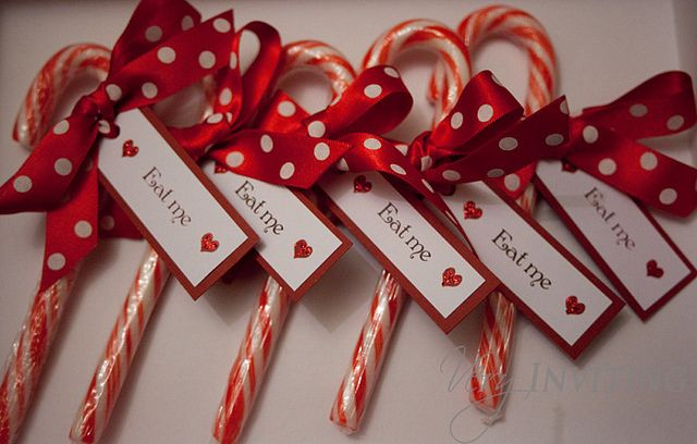 """candy cane favors..""""thank you for making my party so SWEET. Love, Ava"""""""