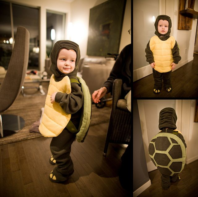 Piper wants to be a turtle ....  Homemade Turtle Costume by Kyler Storm, via Flickr