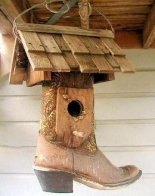 Cowboy Boot Birdhouse