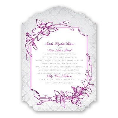 invitation orchid wedding invitations wedding and david tutera