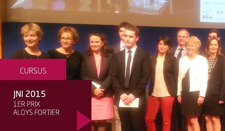 Journée nationale de l'ingénieur 2015 : Aloys Fortier premier prix du trophée «Ingénieur, Carte d'identité»