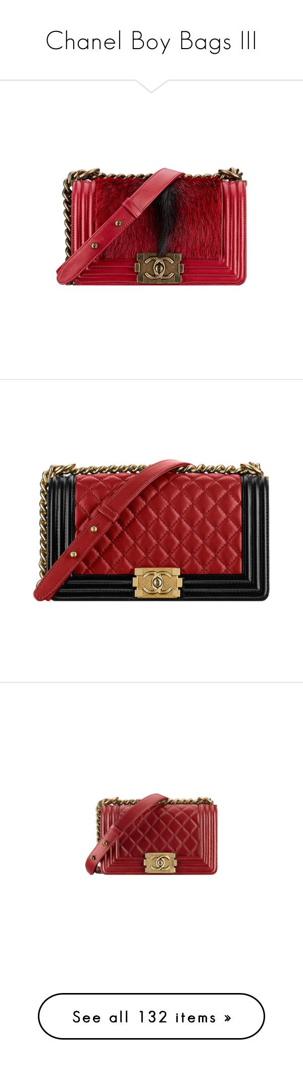 """""""Chanel Boy Bags III"""" by sakuragirl ❤ liked on Polyvore featuring bags, handbags, chanel, chanel bags, bolsa, chanel purse, chanel handbags, red bags, handbag purse and long purse"""