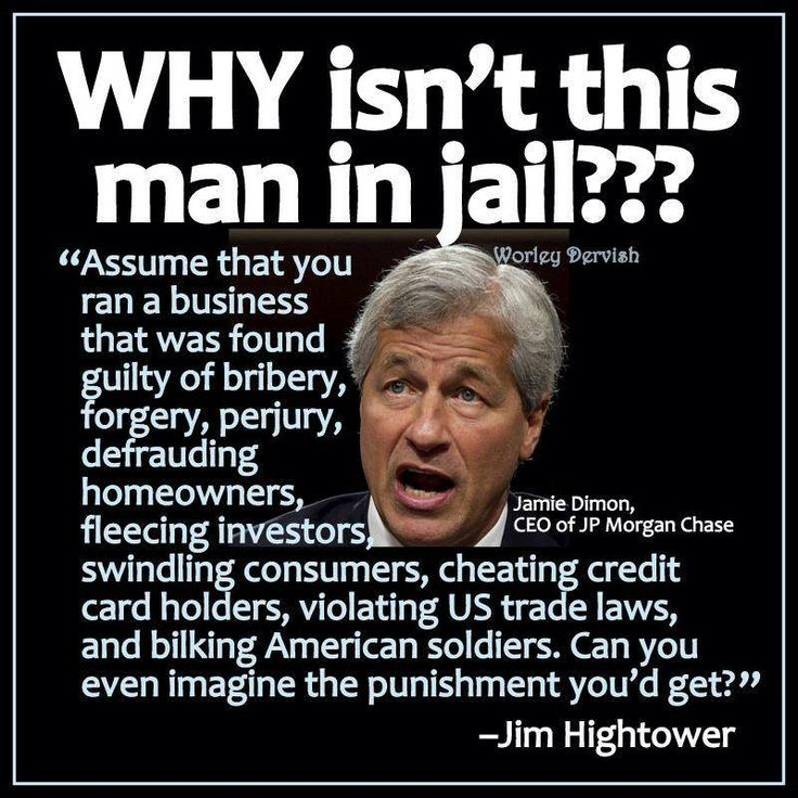 So true.If you or I just did 1 of any of these things that this man has done we'd be rotting in JAIL.