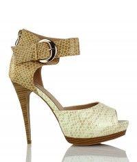 Shoes www.shoeenvy.com.au Dubai - Women's tan, beige and nude wood-grain sandal high heels $149
