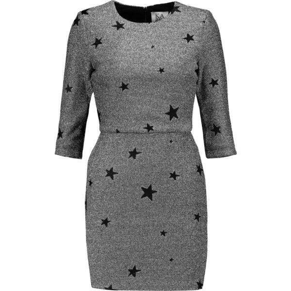 Zoe Karssen Metallic jacquard mini dress (€185) ❤ liked on Polyvore featuring dresses, silver, jacquard dress, metallic mini dress, short metallic dress, slim fit dress and zoe karssen