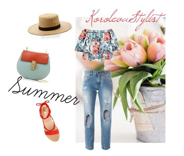 """""""Flower & summer"""" by iran-88 on Polyvore featuring мода, Dolce&Gabbana, Elizabeth and James, Vince Camuto, Chloé и Janessa Leone"""