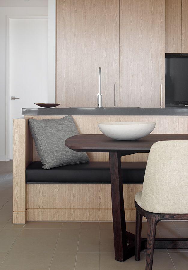 Apartment Kitchen Bench Seat Island   EF