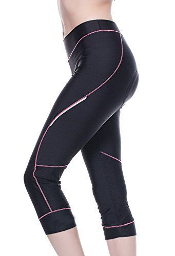 Bicycle Pants Women - 4ucycling Premium 3d Padded Breathable 3/4 Cycling Tights - Maximum Comfort to the Thighs - Great for Competitive -Leisure Cycling - 100% Satisfaction Guaranteed,Black/Pink,WEIGHT:132-143Lbs HEIGHT:5'7-5'9 ft / XL - http://www.exercisejoy.com/bicycle-pants-women-4ucycling-premium-3d-padded-breathable-34-cycling-tights-maximum-comfort-to-the-thighs-great-for-competitive-leisure-cycling-100-satisfaction-guaranteedblackpinkweight/cycling/