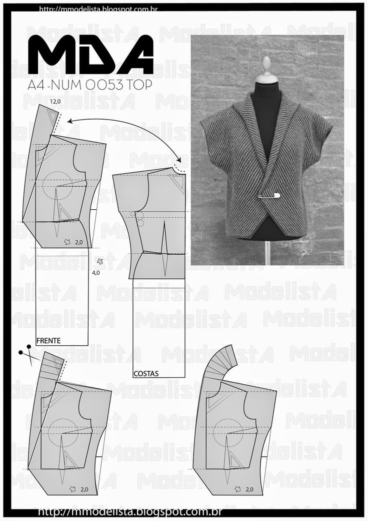 ModelistA: A4 NUM 0053 TOP There are different types of collars that can be used in the construction of the clothes and the right choice for each piece can make a more sophisticated touch or stripped the clothes. The collars may appear in varying shapes and sizes, applying trims or not, or not more pliable tissues.